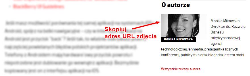 kopiowanie adresu url