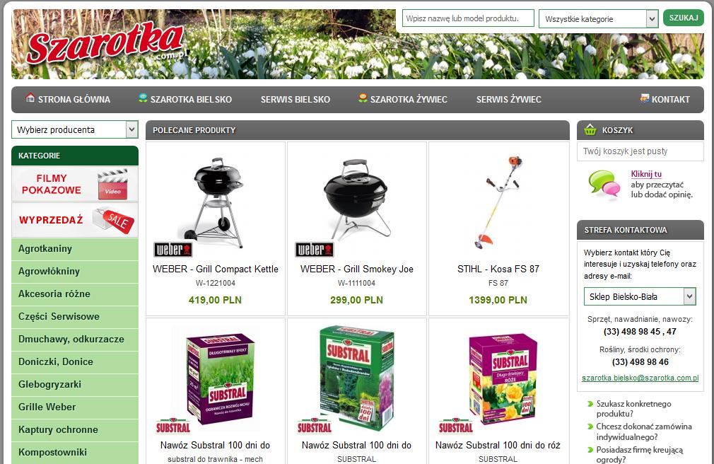 Opisy produktów dla sklepu ogrodniczego
