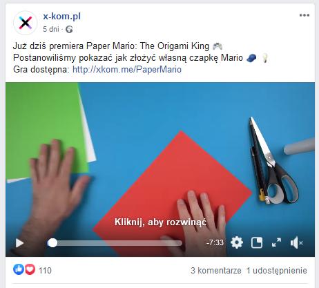 Przykład postu Real-Time Marketing