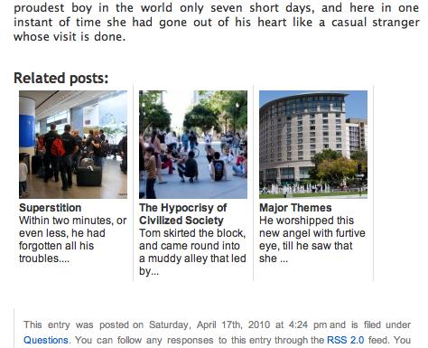 Related Posts by WPBrigade - przykład wyświetlenia miniatur innych artykułów