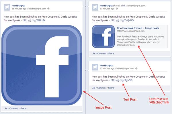 Social Networks Auto-Poster - przykład dodanego postu