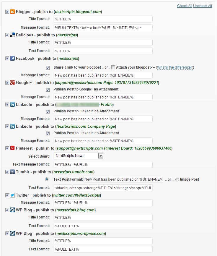Social Networks Auto-Poster -  integracja i konfiguracja wtyczki z kontami w mediach społecznościowych