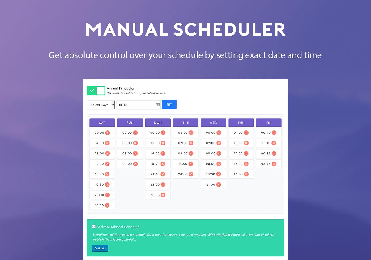 WP Scheduled Posts - ręczne planowanie zadań
