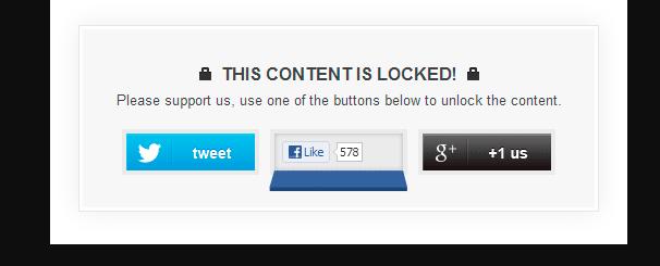 OnePress Social Locker - prezentacja blokady treści